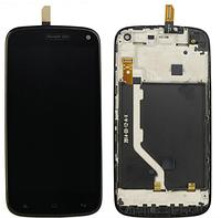 Дисплей (экран) для Fly iQ4410 Quad Phoenix/Gionee E3  + с сенсором (тачскрином) и рамкой черный Оригинал