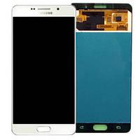 Дисплей Samsung A710 Galaxy A7 с сенсором Белый White оригинал , GH97-18229C