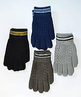 Детские трикотажные перчатки для мальчиков - длина 17 см