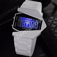 Часы LED Stealth White