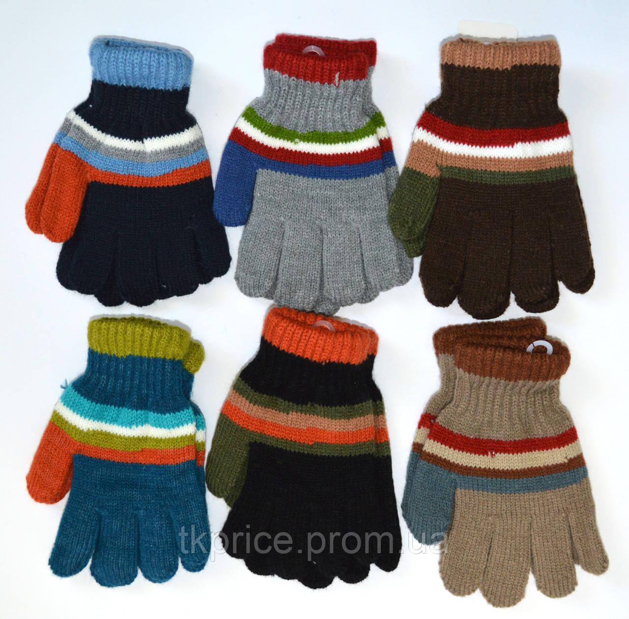 Детские трикотажные перчатки для мальчиков - длина 15 см