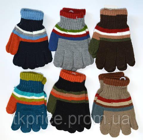 Детские трикотажные перчатки для мальчиков - длина 15 см, фото 2