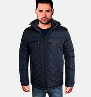 Классическая осенняя куртка - 1719 синий