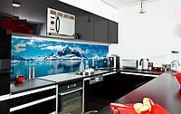 Стеклянный кухонный фартук - Арктика