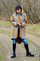 Женская парка (куртка, пальто) из твида в стиле БОХО (№263)