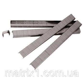 Скобы для пнев. степл., 16 мм, шир. - 1,2 мм, тол. - 0,6 мм, шир. скобы - 11,2 мм, 5000 шт// MTX