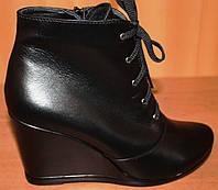 Женские ботинки весенние кожаные на платформе, весенняя женская обувь от производителя модель ТБ - 01Т