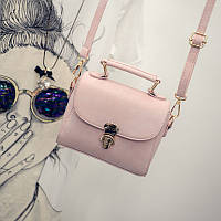 Женская сумочка клатч через плече розовая 1620