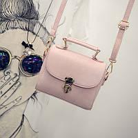 Женская сумочка клатч через плече розовая 1620, фото 1