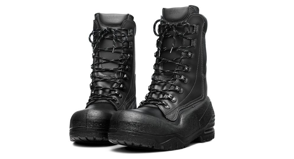 Кожаные ботинки с защитой от порезов бензопилой 20 м/с