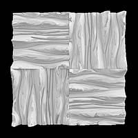 """Дизайнерские гипсовые 3d панели для стен """"Дерево"""""""