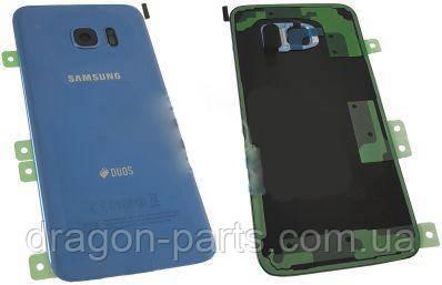 Задняя крышка стекляная Samsung galaxy S7 Edge SM-G935 Blue, GH82-11510F оригинал