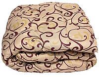 Одеяло полуторное 1,5 искусственная овечья шерсть 150х210 см. Теплое шерстяное одеяло (вензель)!