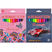 Фломастер 12 цветов «Картон» «С» 128-12