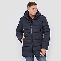 Куртка на биопухе удлиненная нави