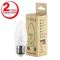 Светодиодная лампочка LED Vinga VL-C37E27-54L Энергосберегающая