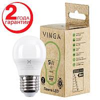 Светодиодная лампочка LED Vinga VL-G45E27-54L Энергосберегающая