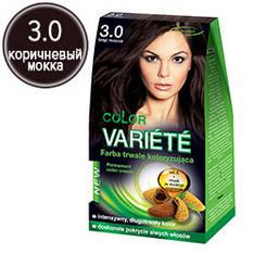 Chantal Variete Color - Стойкая крем-краска для волос 3.0 (коричневый мокка)