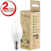 Светодиодная лампочка LED Vinga VL-C37E14-54L Энергосберегающая