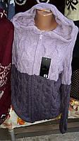 Женская интересная вязанная кофта, фото 1