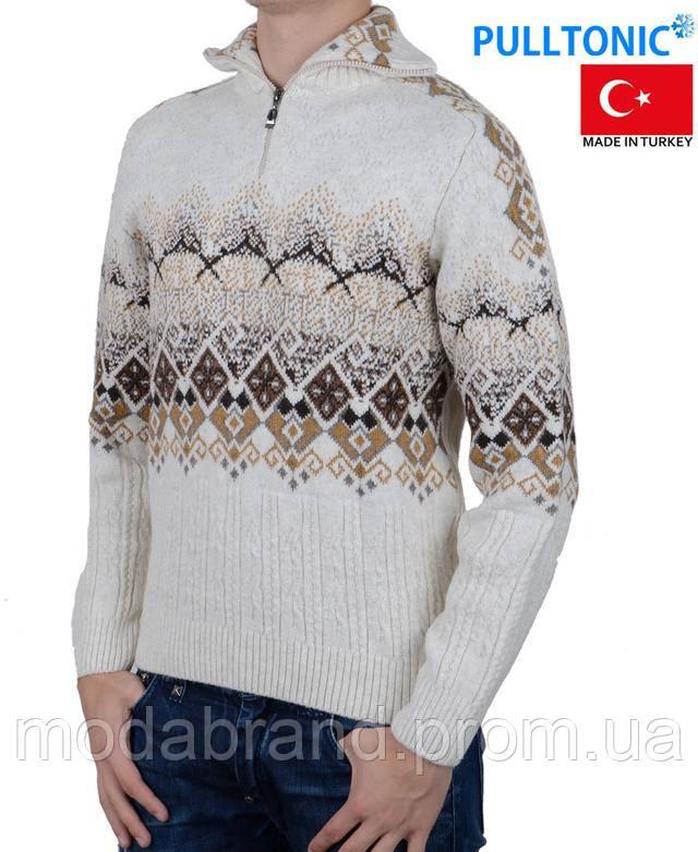 6b023fcdd1ce8 Свитер - производство Турция, ТМ PullTonic, Размерный ряд: TR: M,L,XL;  Состав: 68%- шерсть ламы, 17%-кашемир, 12%-микроакрилик,  3%-лукра,качественный теплый ...