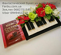 Мини пианино из конфет