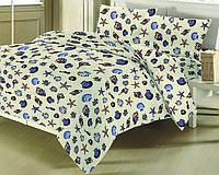Комплект постельного белья БЯЗЬ ЕВРО (100 % хлопок) B-04