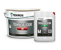 ТЕКНОФЛОР  2K 0,9л база1 Глянцевая двухкомпонентная водоразбавляемая эпоксидная краска и лак для бетонных полов