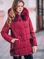 Зимняя женская куртка с натуральным мехом  размеров 42-50  SV MD89029