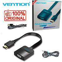 Кабель переходник HDMI TO VGA PS4 / Xbox one + аудио выход (Vention) Оригинал