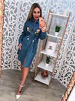 Женское крутое джинсовое платье , фото 1