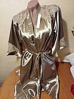 Женский молодежный кружевной комплект халат