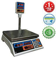 Весы торговые Днепровес ВТД-15Т2 LED