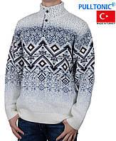 Свитер Pulltonic большого размера на пуговицах.Теплый зимний свитер.