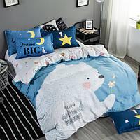 Постельное белье Мишка саржа 100% хлопок комплект Евро, кровать 2.0м