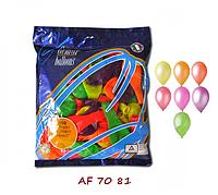 """Воздушные шарики ассорти НЕОН 7"""" (19 см) латексные круглые шарики"""