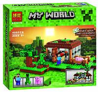 Конструктор Bela Minecraft 10176 «Первая ночь»,(аналог Lego, лего) 408 дет.
