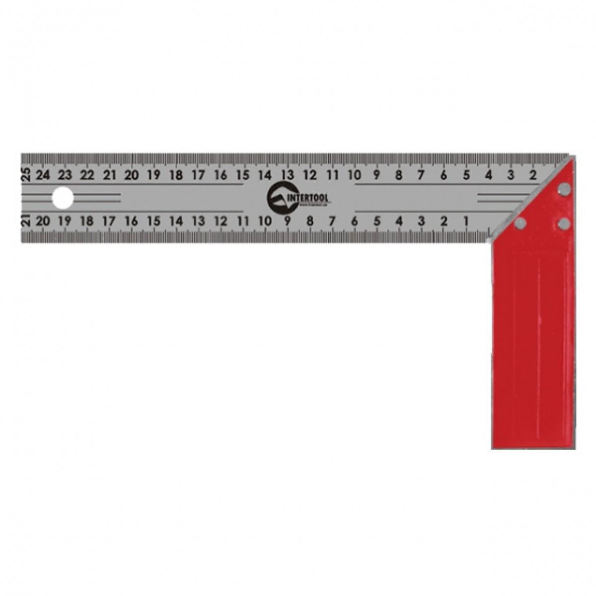 Угольник строительный INTERTOOL MT-2026 (250 мм)