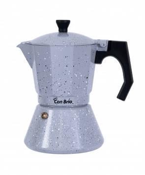 Гейзерна кавоварка Con Brio CB-6709 9чашок алюм індукція
