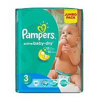 Подгузники Pampers Active Baby Midi 3 (4-9 кг) JUMBO PACK 82 шт.