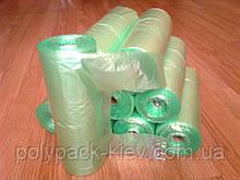Пакеты майка 26*43 см 200 шт в рулоне 12 мкм, фасовочные полиэтиленовые зеленые, фасовочный пакет в рулонах