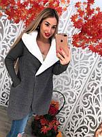 Женское стильное теплое полупальто (2 цвета) , фото 1