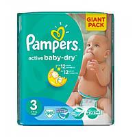 Подгузники Pampers Active Baby-Dry Midi 3 (4-9 кг) Giant Pack, 90 шт.