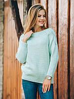 Женский модный вязаный свитер, вязаная одежда р.44-46