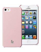 Jison Microfiber wallet cover case for iPhone 5/5S, pink (JS-IP5-01H35)