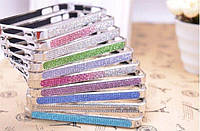 С камнями Colourful by hand bumper for iPhone 5/5S, silver