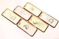 Diamond TPU case Swan for iPhone 5/5s/SE