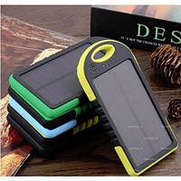 Power Bank SAMSUNG ES500 8000mAh 2USB Solar Panel фонарик 1LED-131
