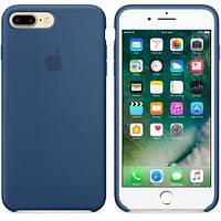 Original silicone case for iPhone 7 plus ocean blue