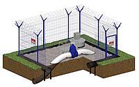 Ограждение территории узла КТП (Комплектная трансформаторная подстанция наружной установки)